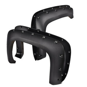 Fender Flares For Chevy 07 13 Silverado 1500 2500hd Pocket Rivet Bolt On Style