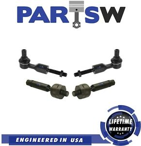 New 4 Pc Front Tie Rod For Volkswgen Audi A4 A6 A8 Quattro Rs4 Rs6 S6 S8 Passat