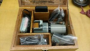 Moore Tools Slot Grinder With Wooden Case And Accessories