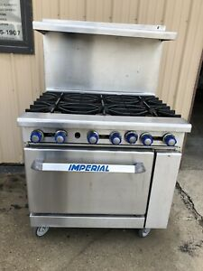 Imperial Range Ir 6 Commercial Gas 6 Burner Range W 26 5 Conventional Oven