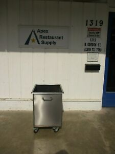 Stainless Steel Ice Bin With Drain And Wheels 27 X 24 4175