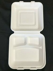 10 3 Disposable Lunch Box Clamshell Container Microwave Safe 200pcs
