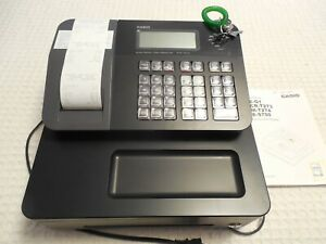 Casio Electronic Thermal Printer Cash Register Pcrt273 With Keys Works Great