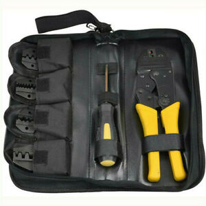 Pro Ratchet Crimper Plier Crimping Tool Cable Wire Electrical Terminals Hot Us