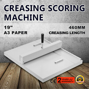 18 Manual Scoring Paper Creasing Machine Trimmer Back Support Office Popular