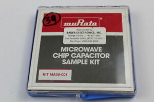 Murata Kit Ma58 001 Microwave Chip Capacitor Kit Value Missing As Shown In Pic