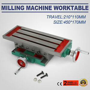 17 7 6 7inch Milling Machine Cross Slide Worktable Drilling Table 450x170mm
