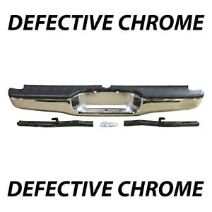 Defective Chrome Finish Rear Steel Bumper Assembly For 1995 2004 Toyota Tacoma