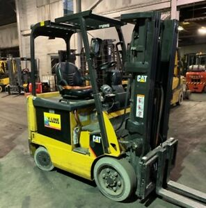 2013 Cat 5000lb Electric Forklift Triple Mast Sideshift Low Hours Good Battery