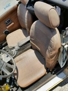 1977 Mg Mgb Driver Side Seat W Frame Brown Ripped In Corner