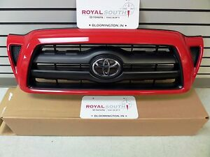 Toyota Tacoma Radiant Red 3l5 Painted Sport Grille Genuine Oem Oe