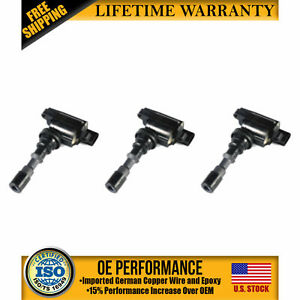 Pack Of 3 Ignition Coil Uf439 For Kia Amanti Hyundai Santa Fe Xg350 3 5l V6