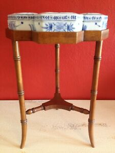 Super Rare Maitland Smith Side Occasional Table Vintage Ceramic Boxes