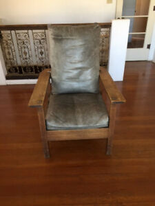 Antique And Signed L Jg Stickley Reclining Morris Chair