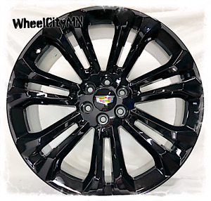 22 Inch Gloss Black 2019 Cadillac Escalade Oe Replica Wheels 6x5 5 New 4 Rims