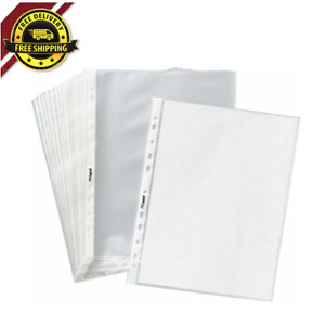 Office Page Sheet Protectors Economy 11 Hole Non Glare Matte Top Loading 1000