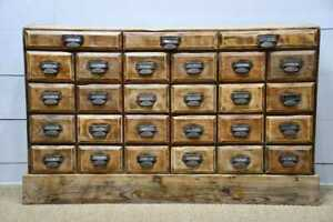 C 1900 Antique American Apothecary Cabinet 27 Drawers Original Hardware