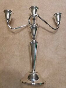 International Sterling Silver Candelabra Candlestick Candle Holder Twist Arm 925