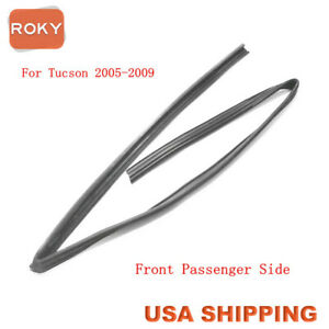 Glass Run Channel Sweep Weatherstrip Front Right For Hyundai Tucson 2005 2009