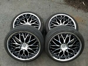 Porsche Chrome 19 Bbs Style Rims Tires Boxster 911 Staggered 986 987 Michelin