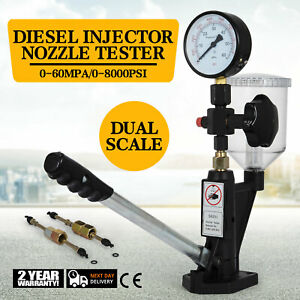 Diesel Injector Nozzles Tester Device Test Tool 0 600bar Aluminum Injection Pump