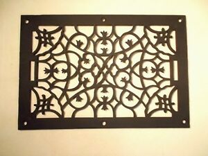 Large Fancy Antique Cast Iron Floor Grate Register Top Wonderful Condition
