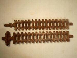 Antique Cast Iron Wood Or Coal Cook Stove Grate Shafts Heavy Solid Set