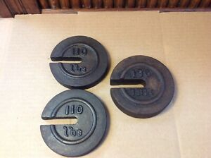 Antique Set Of 3 Stackable Cast Iron Nest Scale Weights Mercantile Trades