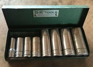 S k Tools 8 Pc 3 8 Drive Deep Socket Set 6 Point In Original Box Made In Usa