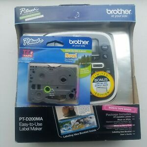 Brother P touch Pt d200ma Label Maker Brand New Retail Box Bonus Tape Included