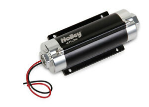 Holley Fuel Pump Hp In Line 65gph 10 An F O Ring In Out Black Chrome