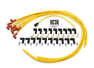 Accel Spark Plug Wire Set Super Stock 8mm Yellow 90 Deg Boots Hei Style Terminal