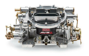Carburetor Avs2 4 barrel 650cfm Square Bore Manual Choke Mech Sec Satin