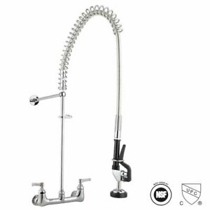 Pull Down Kitchen Faucet Sink Tap Commercial Pre rinse Spout Sprayer Mixer Tap