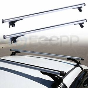 48 Universal Roof Rack Cross Bar Luggage Carrier Aluminum W 3 Kinds Clamp