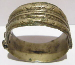 Post Medieval Silver Two Parts Bangle Artifact Ancient Bracelet 469