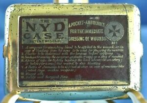 Rare Antique Medical 1880 The Nyd Case No 1 Pocket Ambulance Dressing Of Wounds