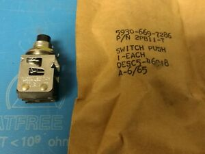 Honeywell 2pb11 t Switch Push Button N o n c Dpdt Round Button New Old Stock