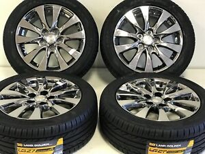 17 Buick Or Chevy Impala Pvd Chrome Wheels Rims Tires Factory Oem Set 4 4113