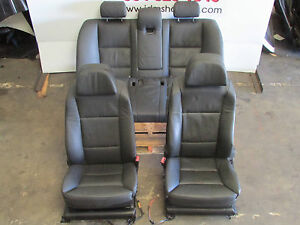 08 09 10 Bmw 5 Series 550i 535i 528i Sedan Oem Black Leather Front