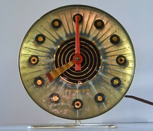 Higgins Fused Glass Clock Mid Century Modern George Nelson Eames