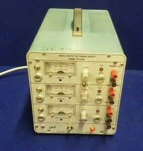 Power Designs Triple Output Dc Power Supply Model Tp340a