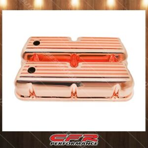Fits 1962 85 Ford Sb Small Block Tall Aluminum Valve Covers Full Finned Copper