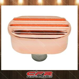 For Chevy Ford Mopar Aluminum Breather Polished Finned Copper Fits 1 25 Hole