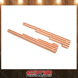Aluminum Billet Fits Universal Spark Plug 9 5mm Wire Looms Finned Copper Finish