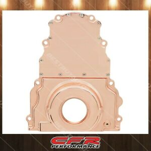Aluminum Fits Chevy Ls Two Piece Timing Chain Cover W O Cam Sensor Hole Copper