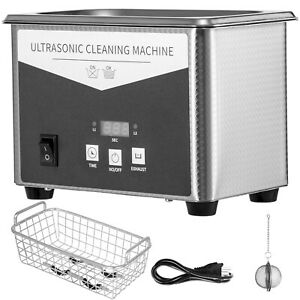 Stainless Steel 0 8l Liter Industry Heated Ultrasonic Cleaner Heater W timer New