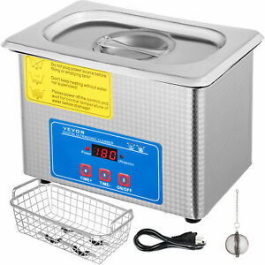 New 0 8l Ultrasonic Cleaner Stainless Steel Industry Heated Heater W timer
