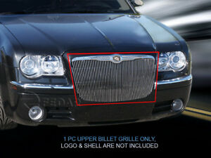 Polished Billet Grille Grill Vertical Style Fits 2005 2010 Chrysler 300c