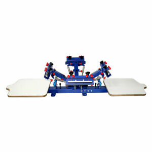 22 18 4 Color 2 Station Screen Press Printing Machine Micro adjust Function